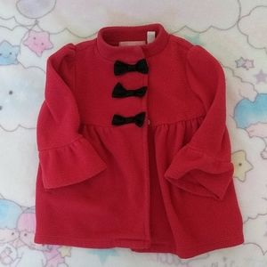 Red long jacket with bows!